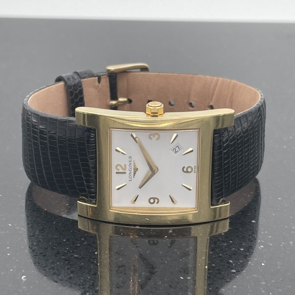 18ct Yellow Gold Longines Dolce Vite Quartz Watch Model L56666 - Boxed
