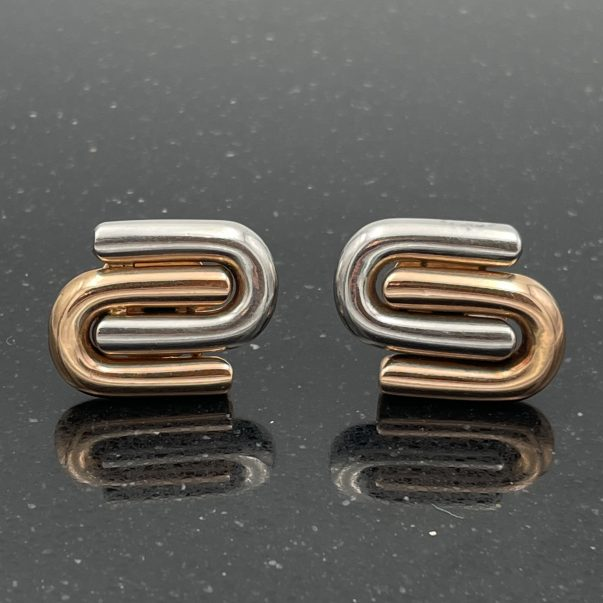 18ct Rose and White Gold Fancy Cufflinks