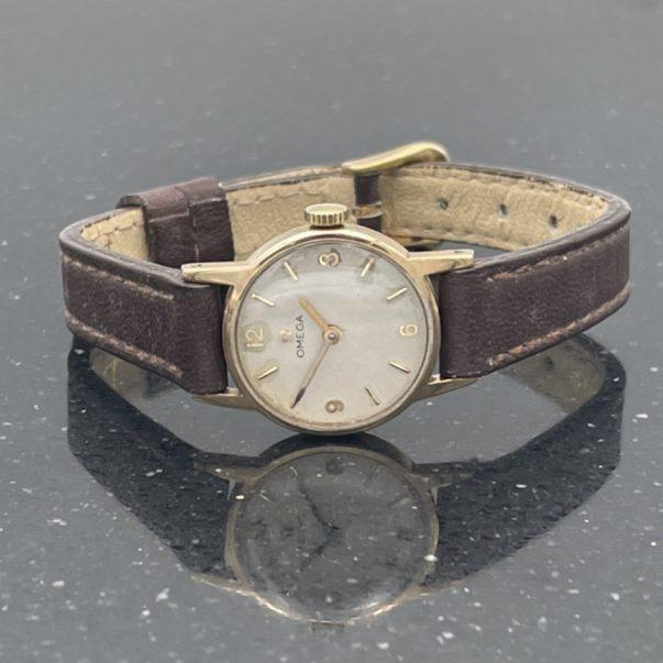 9ct Ladies Omega Mechanical Watch
